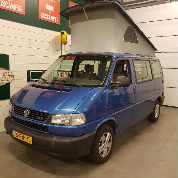 VW Transporter T4 California Coach, buscamper, blauw metallic, 1999, 260 dkm