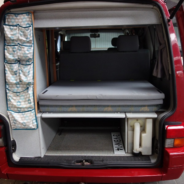 VW Transporter T4 California Coach, buscamper, rood